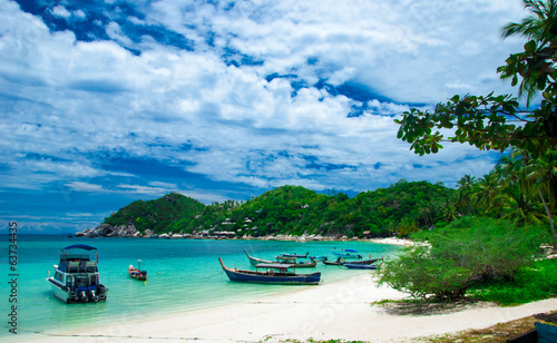 Beautiful beach in Ko Tao Island, Thailand