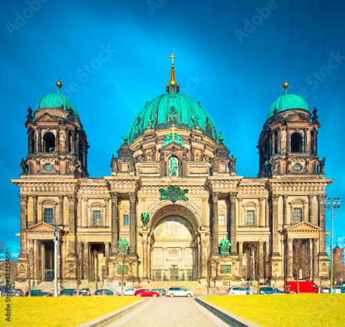 Berlin Cathedral (Berliner Dom) panorama in Berlin City