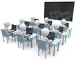 Unterricht Schüler mit Computer