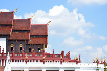 Ho Kham Luang at Royal Flora Expo, traditional thai architecture