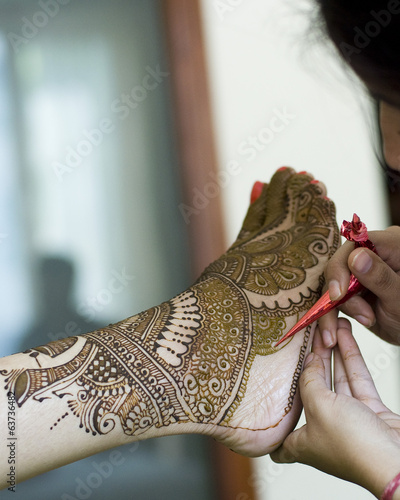 applying henna , bride, wedding ,Rajasthan, India