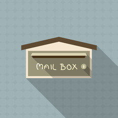 mail box flat design