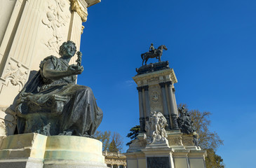 Equestrian statue in the Buen Retiro Park