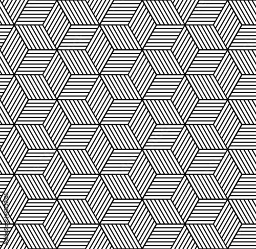 Seamless geometric pattern with cubes - 63737825