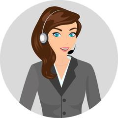 Female call centre operator - isolated