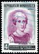 Postage stamp Honduras 1956 Genoveva Guardiola de Estrada Palma