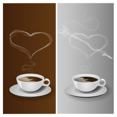 Coffee cup with heart, VECTOR, EPS10