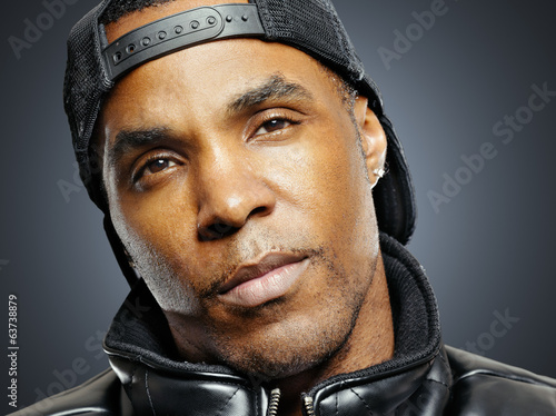 african american man with urban look portrait