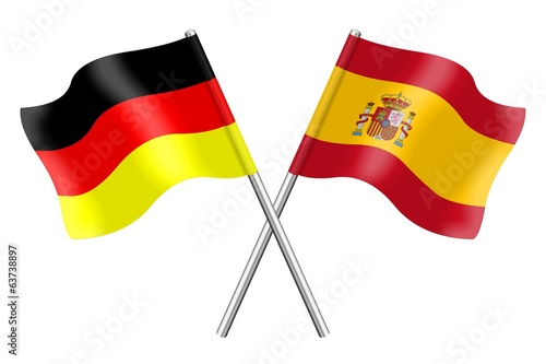Flags: Germany and Spain