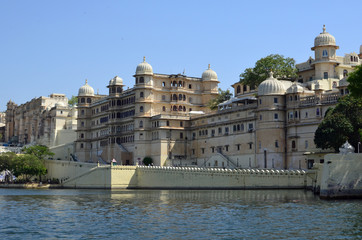 City Palace, Udaipur and Lake Pichola , Rajasthan, India