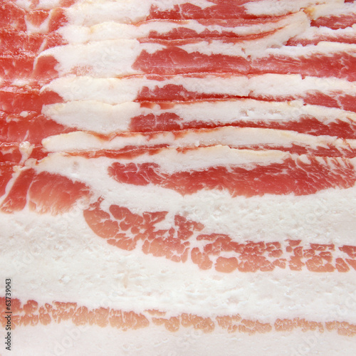 Sliced bacon.