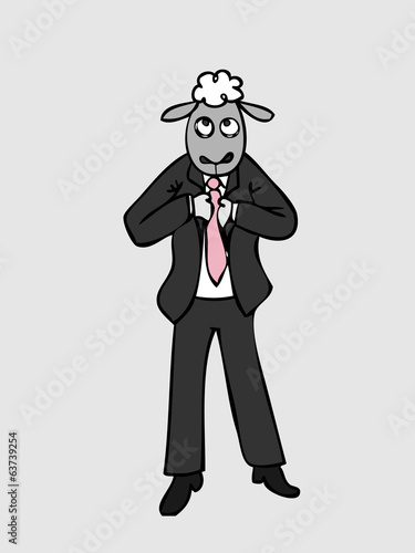Business sheep man