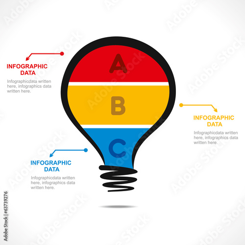 creative bulb info-graphics design concept vector