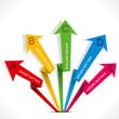 creative colorful arrow info-graphics design vector
