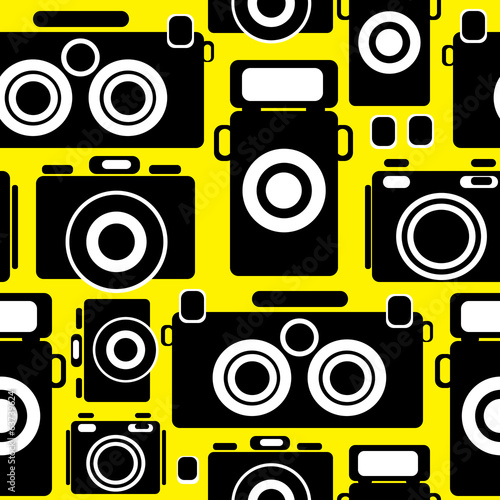 cameras icons seamless pattern