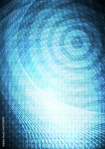 Abstract blue textured space background