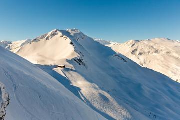 Ski resort Bad Gastein in winter snowy mountains, Austria