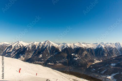 Cableway and chairlift in ski resort Bad Gastein in Austria