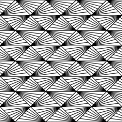 Seamless geometric pattern with triangles and lines