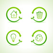 Set of eco icons stock vector