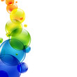 Abstract Background With Color Balls