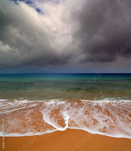 sea landscape with moody sky