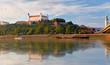 Bratislava castle at evening, Slovakia
