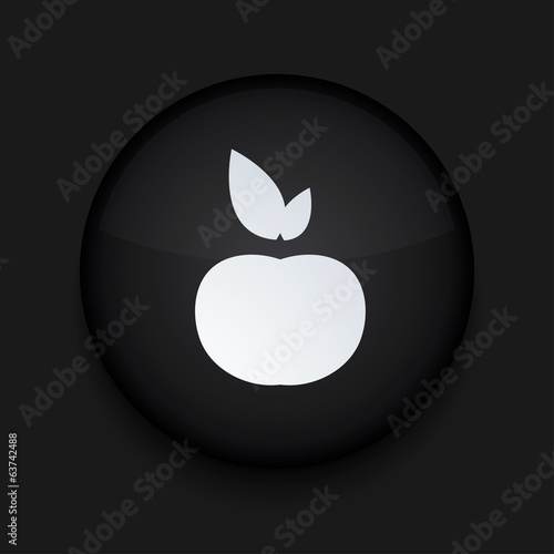 Vector modern black circle icon. Eps10