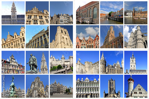 Belgische Großstädte: BRÜSSEL+BRÜGGE+ANTWERPEN+GENT