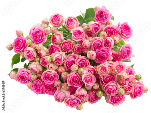 bouquet fresh pink roses