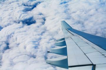 sicht aus fliegenden flugzeug