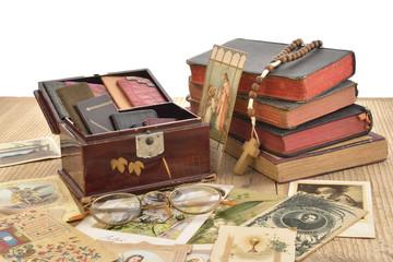 santini, vecchi libri messa e vecchie agendine