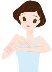 腕毛に悩む女の子
