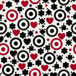 Pretty seamless pattern with hearts