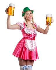 beautiful and sexy Woman in tiroler oktoberfest style