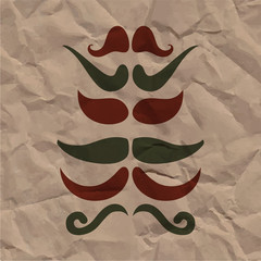 Hipster card various kinds of mustache
