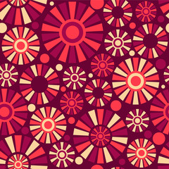 Abstract seamless pattern with colorful shapes
