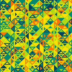 Colorful abstract geometric triangular seamless pattern