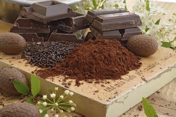 cioccolato misto primo piano