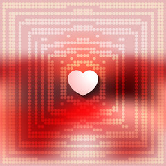 Abstract blurred background with a heart