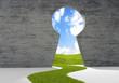 Leinwandbild Motiv porta sull ecologia