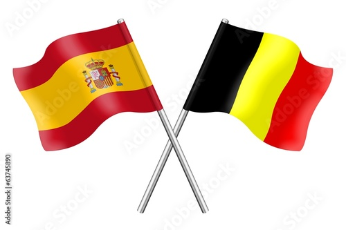 Flags: Spain and Belgium