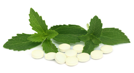 Stevia with tablets