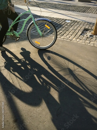 shadow from bicycle