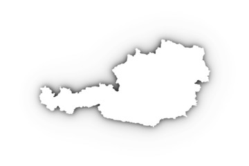 Austria map in white