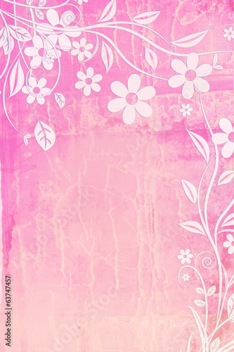 Pretty floral, textured background