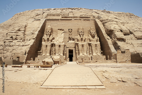 In de dag Egypte The Great Temple, Abu Simbel , Egypt
