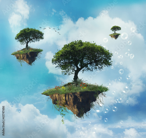 Floating islands with trees|63747686