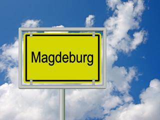 Magdeburg - Ortsschild