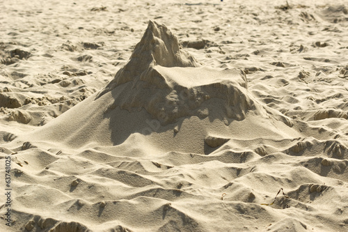 Dried sand castle